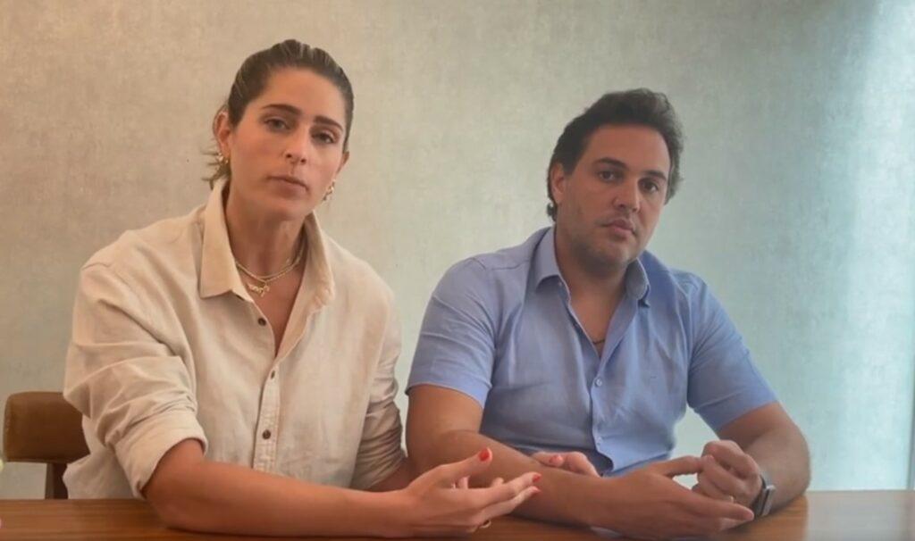 Rebeca e Bruno, pais se criança que apareceu em Story de Wesley Safadão