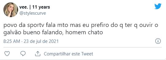 Galvão Bueno teve narração criticada nas redes sociais