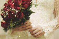 noiva casamento buquê