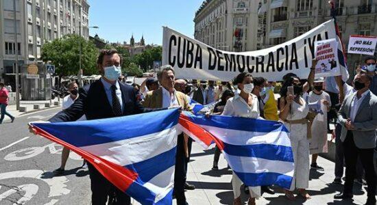 Manifestação em Cuba
