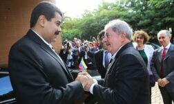 Ex-presidente Luiz Inácio Lula da Silva e o líder venezuelano Nicolás Maduro