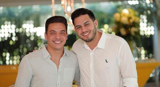 Wesley Safadão e o pastor André Vitor