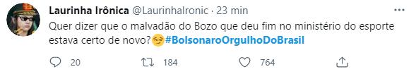 Web volta a se unir em apoio e diz: #BolsonaroOrgulhoDoBrasil