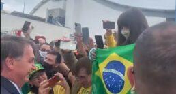 Presidente Jair Bolsonaro em SC