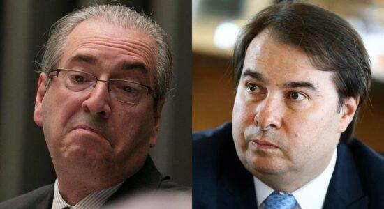 Ex-presidentes da Câmara Eduardo Cunha e Rodrigo Maia