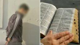 Menor acusado de homicídio se entrega com Bíblia nas mãos