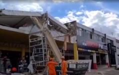 Parte de prédio desabou, na Asa Norte