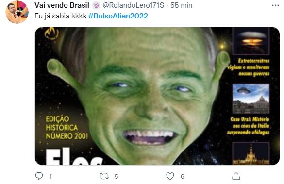 Web ironiza 'cópias alienígenas' e lança #BolsoAlien2022