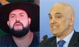 Caminhoneiro Zé Trovão já desafiou o ministro Alexandre de Moraes, do STF
