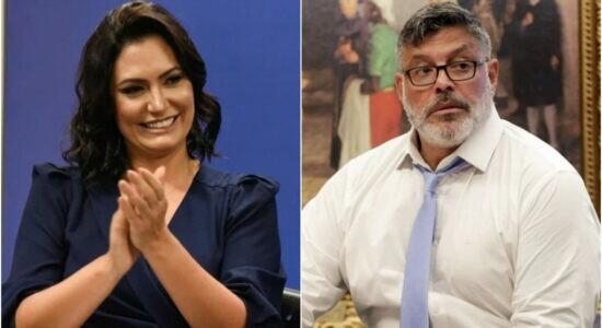 Michelle Bolsonaro ironizou o deputado Alexandre Frota
