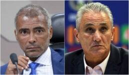 Romário criticou Tite, técnico da Seleção Brasileira