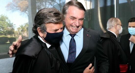Presidente do STF, Luiz Fux e presidente da República, Jair Bolsonaro
