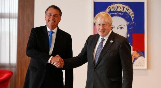 Presidente Jair Bolsonaro e o primeiro-ministro do Reino Unido, Boris Johnson
