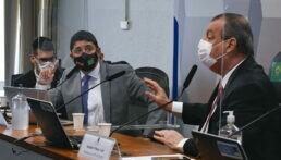 Ministro da CGU, Wagner Rosário e senador Omar Aziz