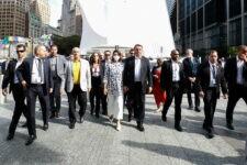 Presidente Jair Bolsonaro e parte de sua comitiva, em Nova Iorque