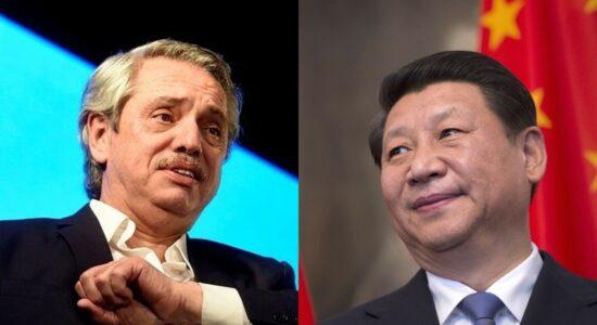 Alberto Fernández e Xi Jinping