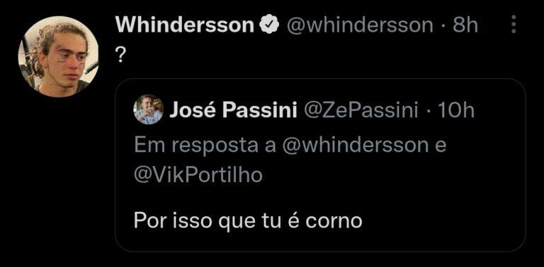 Whindersson dá resposta afiada a Felipe Neto