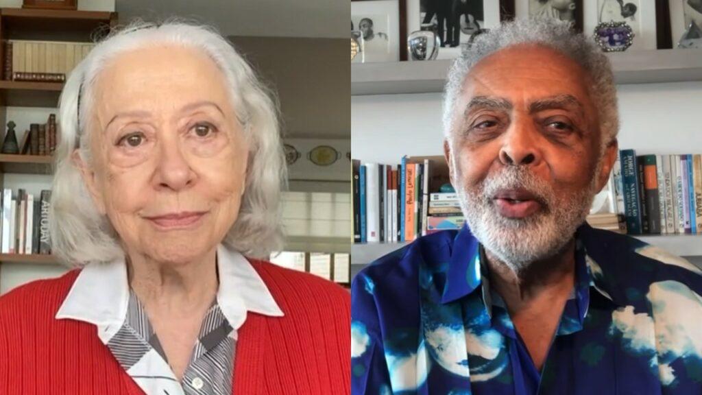 Fernanda Montenegro e Gilberto Gil