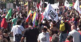 Manifestação protesto esquerda contra fora Bolsonaro