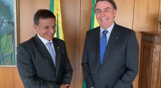 Senador Marcio Bittar e presidente Jair Bolsonaro
