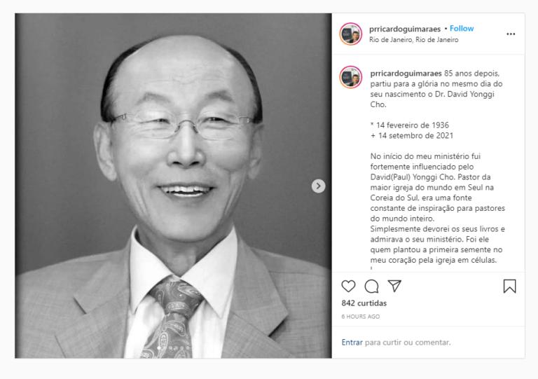 Pastores e cantores lamentam morte do reverendo David Yonggi Cho