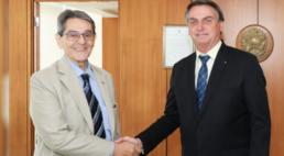 Presidente nacional do PTB, Roberto Jefferson, e o presidente Jair Bolsonaro