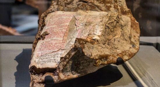 Página de Bíblia achada nos escombros do World Trade Center mostra mensagem de perdão