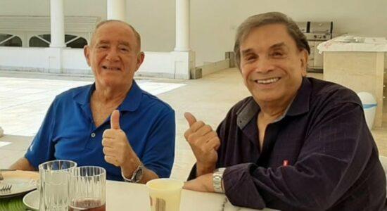 Renato Aragão e Dedé Santana