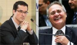 Deltan Dallagnol e Renan Calheiros