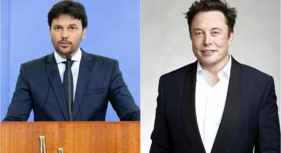 Fábio Faria e Elon Musk