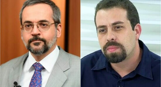 Ex-ministro Abraham Weintraub e o ex-candidato a presidente Guilherme Boulos