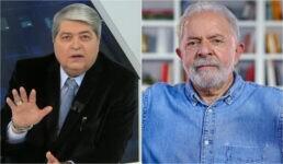 José Luiz Datena e o ex-presidente Luiz Inácio Lula da Silva