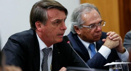Presidente Jair Bolsonaro e o ministro da Economia Paulo Guedes