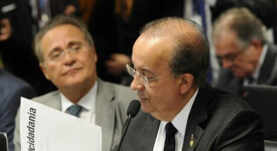 Senador Renan Calheiros e  o senador Jorginho Mello