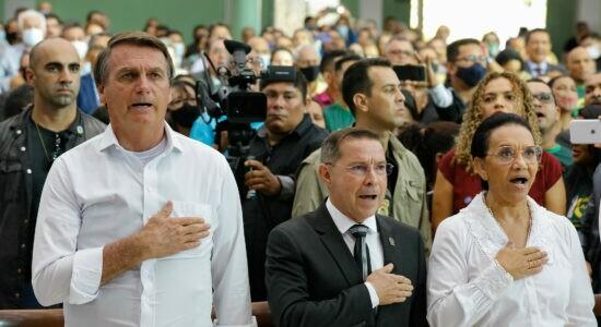 Bolsonaro visitou culto comemorativo em Boa Vista