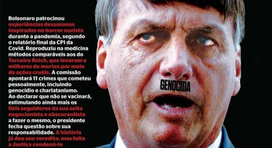 Capa da IstoÉ comparou Bolsonaro a Hitler