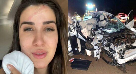Patrícia Romania acidente de carro