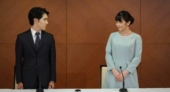 princesa Mako e Kei Komuro